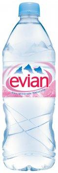 Упаковка минеральной негазированной воды Evian 1 л х 6 бутылок (3068320080000)