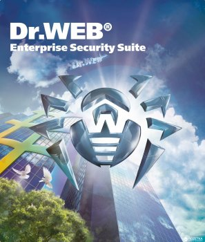 Антивірус Dr. Web Універсальний 50 робочих станцій + 50 користувачів пошти + 50 мобільних пристроїв + 1 файловий сервер + 50 користувачів шлюзу + центр управління на 1 рік