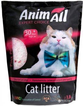 Наполнитель для кошачьего туалета AnimAll Розовый лепесток Силикагелевый впитывающий 1.6 кг (3.8 л) (2000981033460)