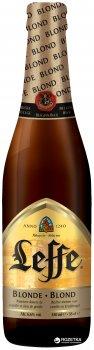 Упаковка пива Leffe Blonde світле фільтроване 6.4% 0.33 л x 24 шт (5410228142089)
