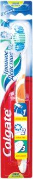 Зубная щетка Colgate Тройное действие средней жесткости Зеленая (4606144006920/6910021100037_green)