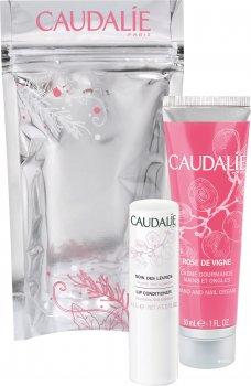 Набор Сaudalie Rose de Vigne Универсальная защита (Крем для рук Rose de Vigne 30 мл + Кондиционер для губ увляжняющий антиоксидант 4.5 г) (3522930023487)