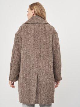 Пальто H&M 7728150 Темно-коричневое
