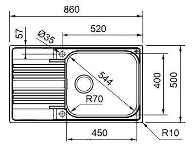 Кухонная мойка FRANKE SMART SRX 611-86 XL (101.0456.705) полированный