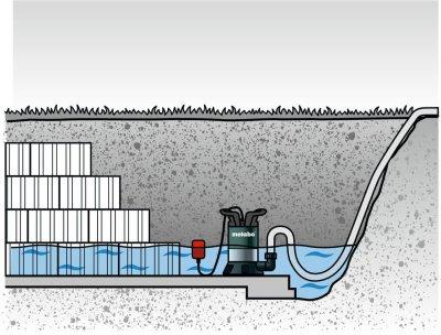 Насос погружной для чистой воды Metabo TP6600 (0250660000)