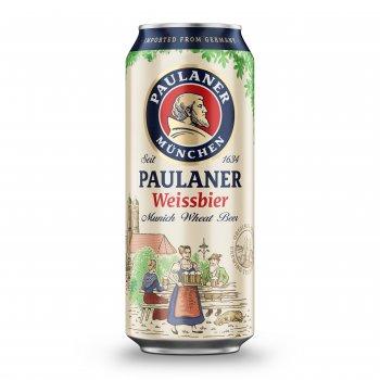 Упаковка пива Paulaner Hefe-Weissbier светлое нефильтрованное 5.5% 0.5 л x 24 шт (4066600601920)