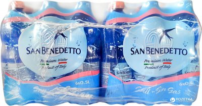 Упаковка минеральной негазированной воды San Benedetto 0.5 л х 24 бутылки (8001620014967)