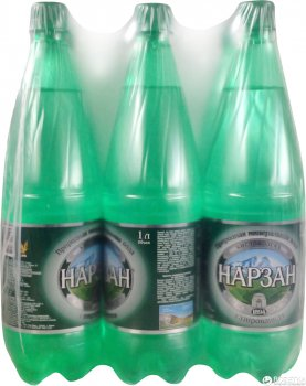 Упаковка минеральной газированной воды Нарзан 1 л х 9 бутылок (4600536006116_4600536900438)