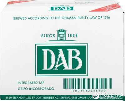 Пиво DAB светлое фильтрованное 5% 5 л (4001982258133)