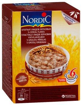 Хлопья NordiC 5 видов зерновых 600 г (6411200106722)