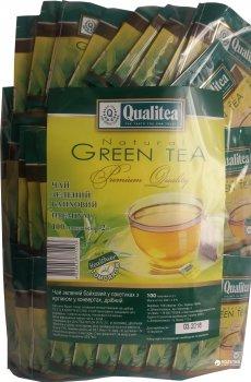 Чай зеленый пакетированный Qualitea Сашет 100 пакетиков (4820053771513)
