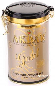 Чай черный листовой Akbar Gold  225 г в жестяной банке (5014176001223)