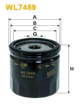 Фильтр масляный WIX WL7459 - FN OP629/1