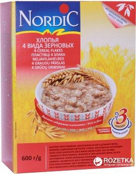 Хлопья NordiC 4 вида зерновых 600 г (6411200105770)