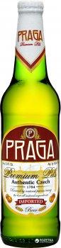 Упаковка пива Praga Premium Pils светлое фильтрованное 5% 0.5 л х 20 бутылок (8594191920091)