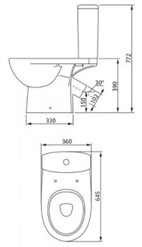 Унитаз-компакт COLOMBO Статус S23960500 с бачком и сиденьем дюропласт