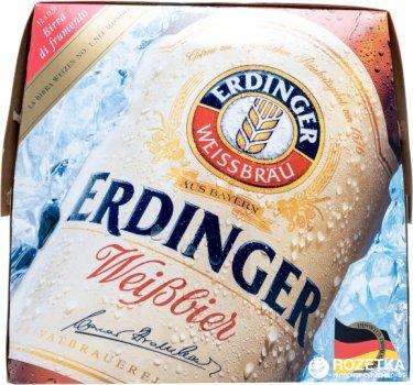 Упаковка пива Erdinger Weissbier светлое фильтрованное 5% 0.5 л х 12 бутылок (4002103248248)