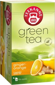 Чай зеленый пакетированный Teekanne Зеленый с апельсином и имбирем 20 пакетиков (4009300524281)