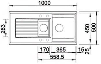 Кухонна мийка BLANCO ZIA 6 S (514748) антрацит + зливний гарнітур (221915)