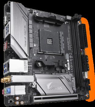 Материнська плата Gigabyte B450 I Aorus Pro Wi-Fi (sAM4, AMD B450, PCI-Ex16)