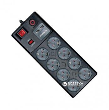 Сетевой фильтр-удлинитель Real-El RS-8F USB Charge 3 м Black