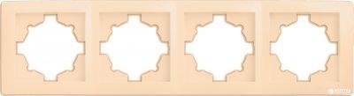 Рамка четверна Delux Wega 9303 Кремова (10040372)