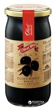 Маслины черные с косточкой Diva Oliva Gold 370 мл (5060235651298)
