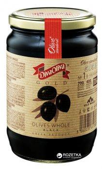 Маслины черные с косточкой Diva Oliva Gold 720 мл (5060235651366)