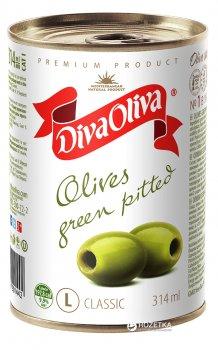 Оливки зеленые без косточки Diva Oliva 300 г (5060162901442 / 8436024291919)