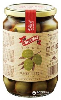 Оливки зеленые без косточки Diva Oliva Gold 720 мл (5060235651359)