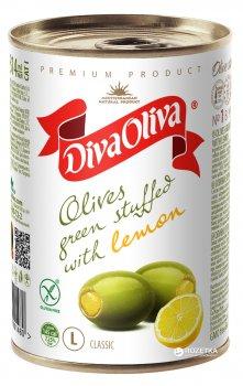 Оливки зеленые с лимоном Diva Oliva 300 г (5060162901480 / 8436024292022)