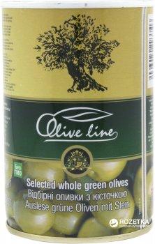 Оливки отборные с косточкой Olive Line 420 г (8436024293746)