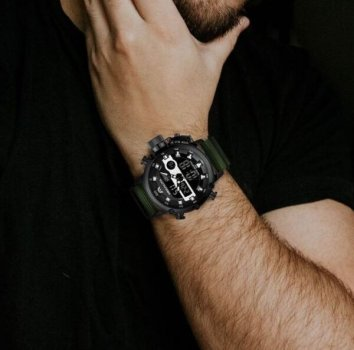 Чоловічі годинники MEGALITH PROF GREEN (7772)