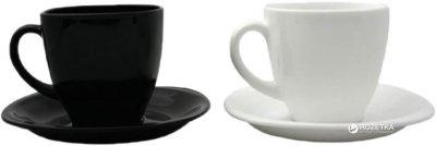 Чайний сервіз Luminarc Carine Black/White з 12 предметів (D2371)