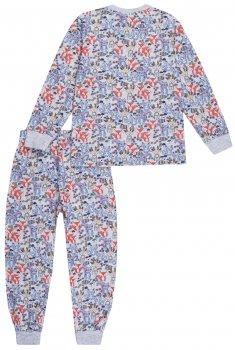 Пижама (футболка с длинными рукавами + штаны) Interkids Енот 3558 Серая