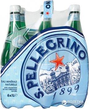 Упаковка минеральной газированной воды S.Pellegrino 1 л х 6 бутылок (8002270044892)