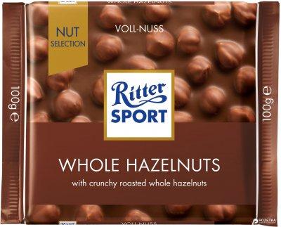 Шоколад Ritter Sport Nut Selection молочный с цельными лесными орехами 100 г (4000417700001_374373)