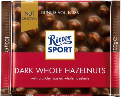 Шоколад Ritter Sport Nut Selection темний з цільними лісовими горіхами 100 г (4000417702005_374374)