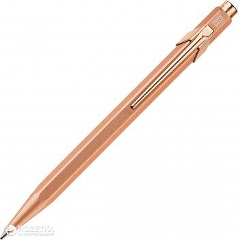 Ручка шариковая Caran d'Ache 849 Синяя 0.7 мм Розовый золотистый корпус в подарочном футляре (7630002328869)