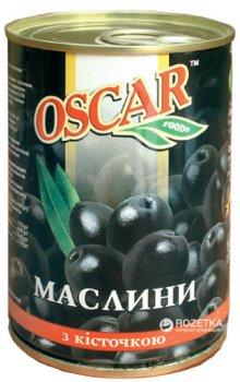 Маслины черные с косточкой Oscar 425 г (8436024292114)