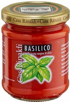 Соус томатный с базиликом Casa Rinaldi 190 г (8006165371193)
