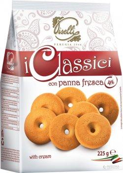 Печенье Piselli песочное со сливками 225 г (8032755321088)