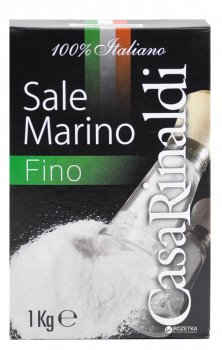 Сіль морська Casa Rinaldi 100% Italiano дрібна 1 кг (8006165400091)