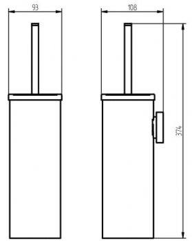 Ёршик для унитаза HACEKA Mezzo (403020)