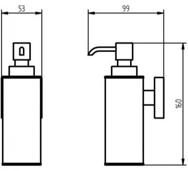 Дозатор для рідкого мила HACEKA Mezzo (403017)