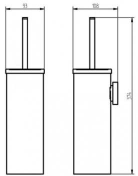 Ёршик для унитаза HACEKA Kosmos (402320)