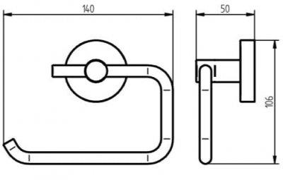 Тримач туалетного паперу HACEKA Kosmos (402314)