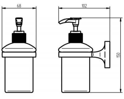 Дозатор для рідкого мила HACEKA Aspen (405316)