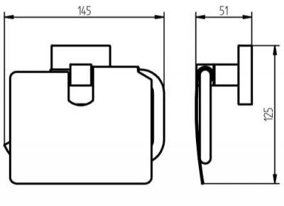 Держатель для туалетной бумаги HACEKA Mezzo (403013)