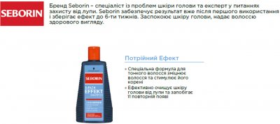 Шампунь Seborin Тройной Эффект против перхоти для тонких волос 250 мл (4015000982238)